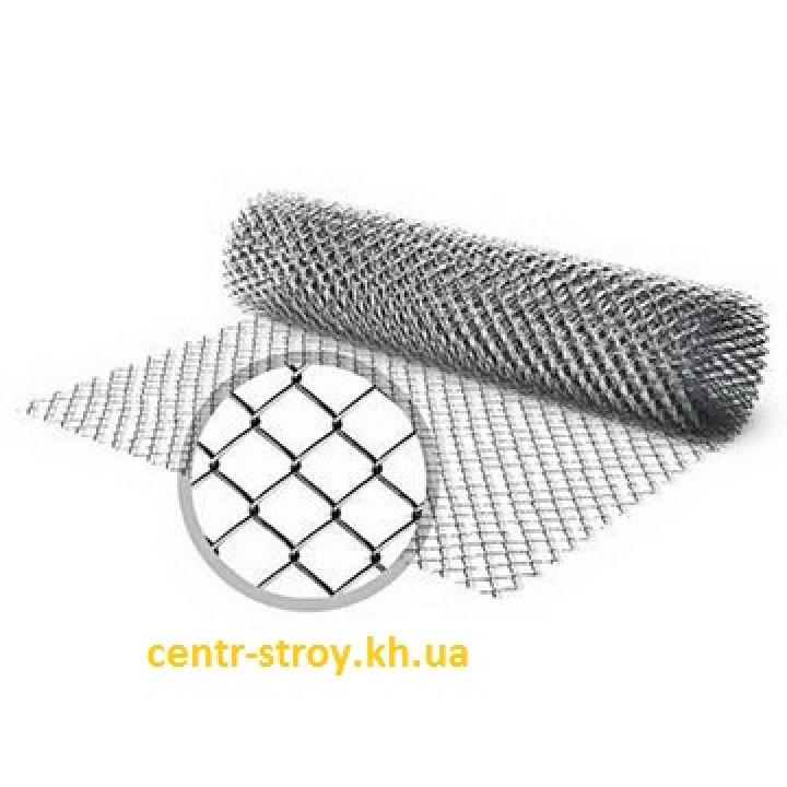 Сетка рабица (2 м) оцинкованная (клетка 55 мм)
