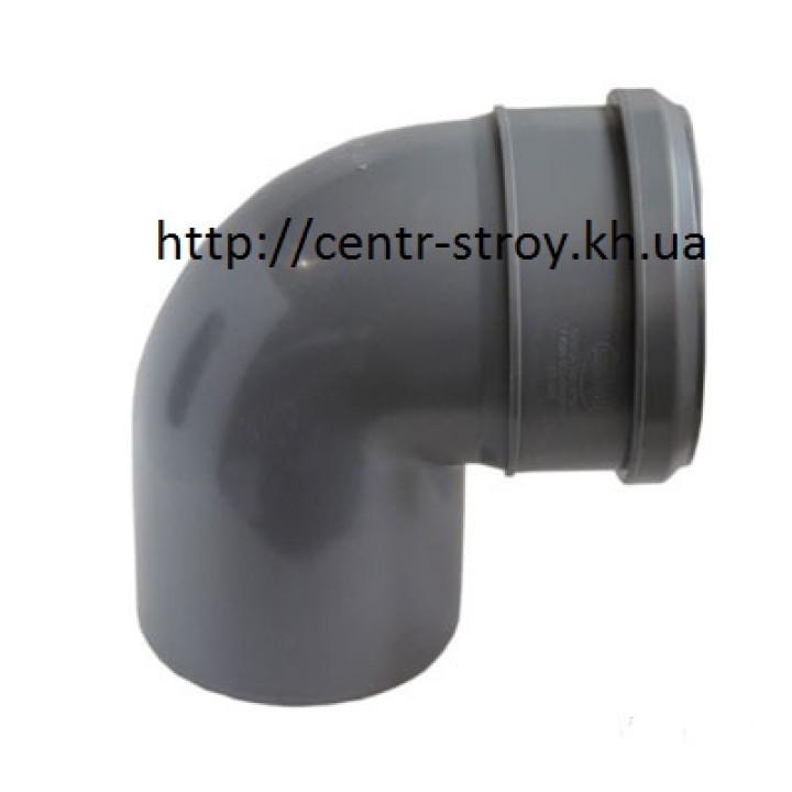 Уголок 110 мм (колено) канализационный (90 градусов)