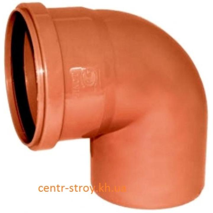 Уголок 160 мм (колено) канализационный наружный (90 градусов)
