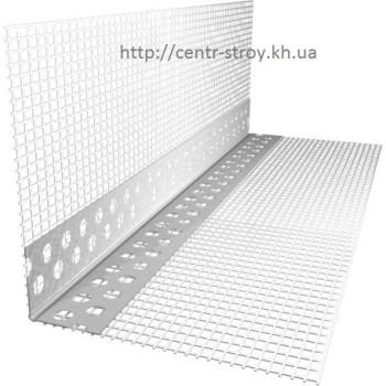 Уголок алюминиевый со стеклосеткой 2,5 м