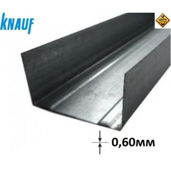 KNAUF профиль UW 75 3м (0,6 мм)