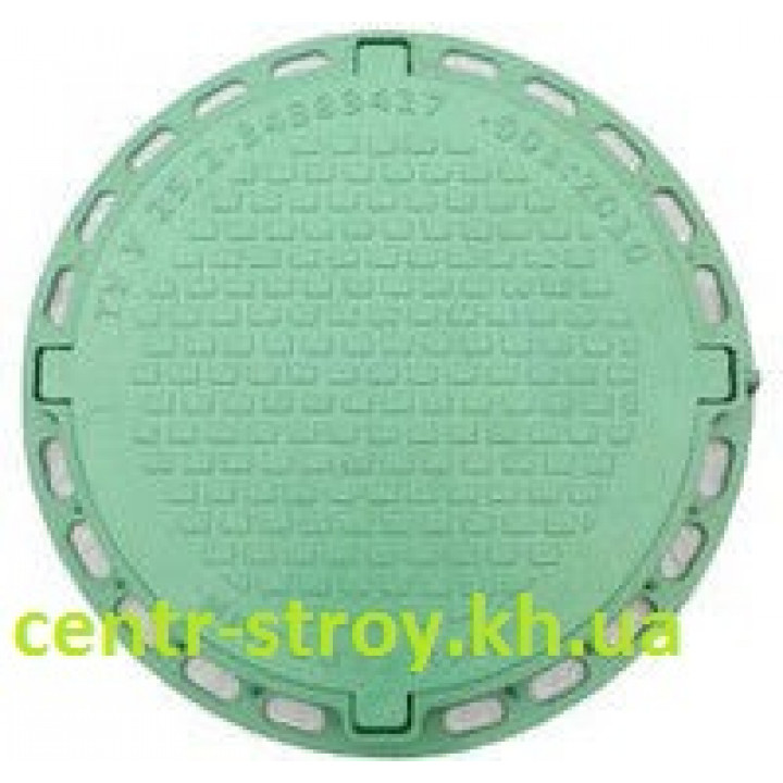 Люк смотровой садовый круглый (зеленый)