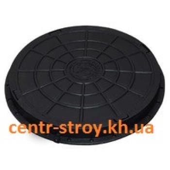 Люк смотровой садовый круглый (черный)