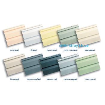 Сайдинг виниловая панель (3,66 м) цветной